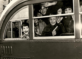 image of children inside a vehicle