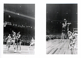 Manhattan College basketball game during 1957-58 season