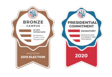 Image showing bronze award in 2018 and Presidential Signature Award in 2020