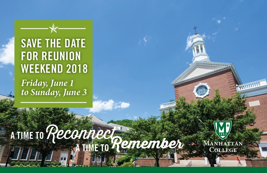 Reunion Weekend Save the Date: June 1-3, 2018