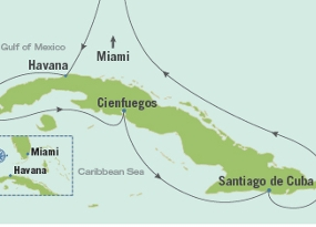 map of cuba and its ports