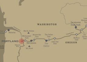 map of washington and oregon state