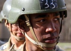 Isaias Rivas wearing army fatigues