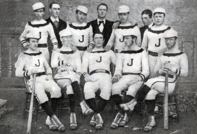 Photograph of 1879 Manhattan College Baseball Team.