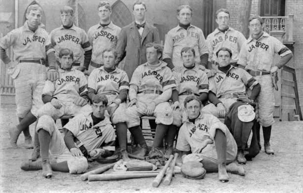 Photograph of 1886 Manhattan College Baseball Team.