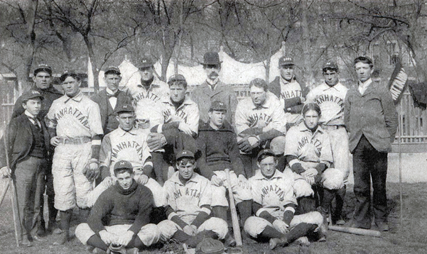 Photograph of 1898 baseball team.