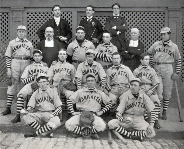 Photograph of 1900 Manhattan College Baseball Team.