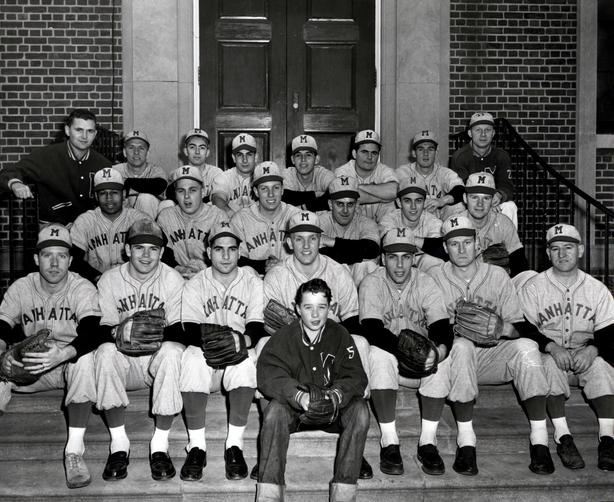 Photograph of 1957 Manhattan College Baseball Team.