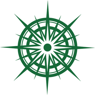 Image of a green compass.