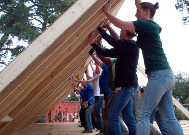 Students build a home in New Orleans