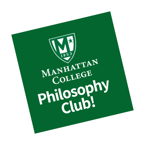 Manhattan College Philosophy Club Logo with green background and white text