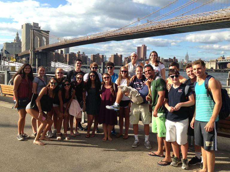 Arches students visit the Brooklyn Bridge