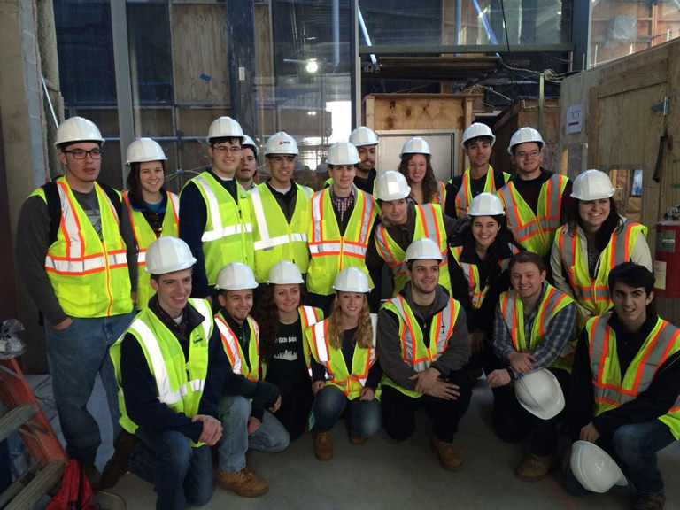 ASCE members at a construction site