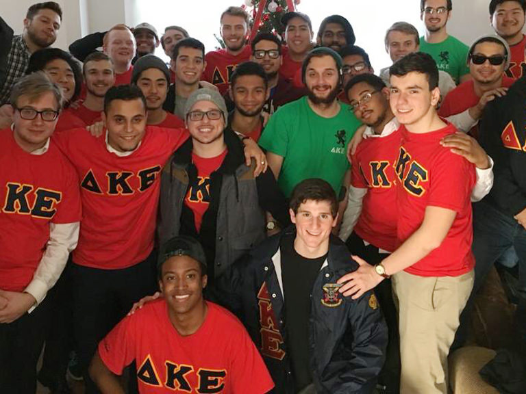 A group shot of DKE's Phi Mu chapter.