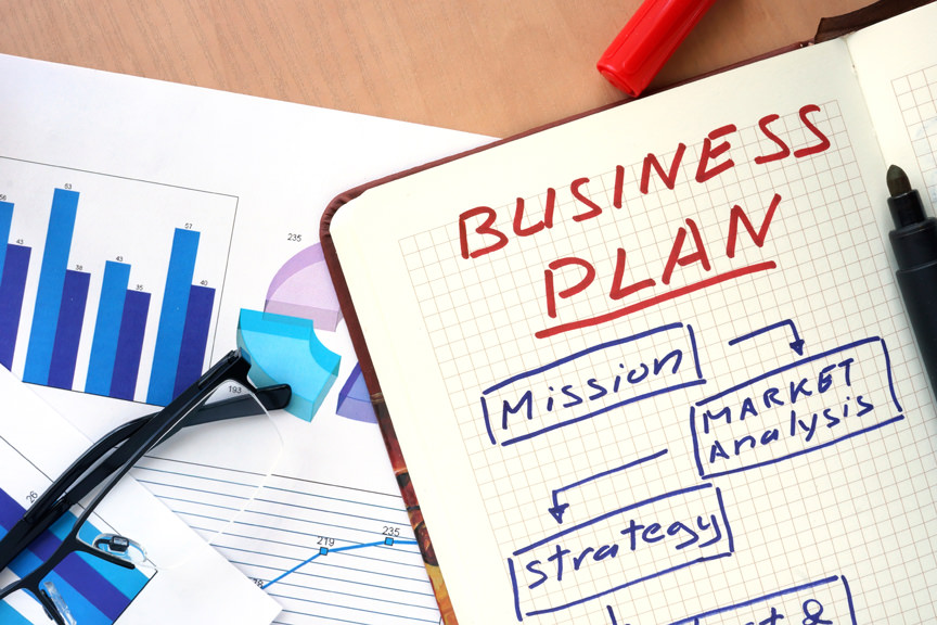 Sketch of a business plan.