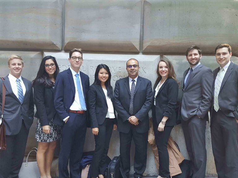Manhattan College's New York Fed Challenge team of 2015.