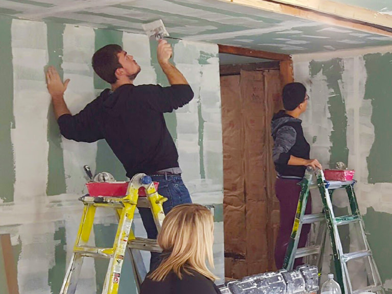 Students rebuild a home