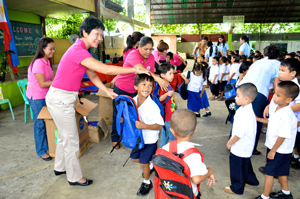 1 Meal students receive school supplies
