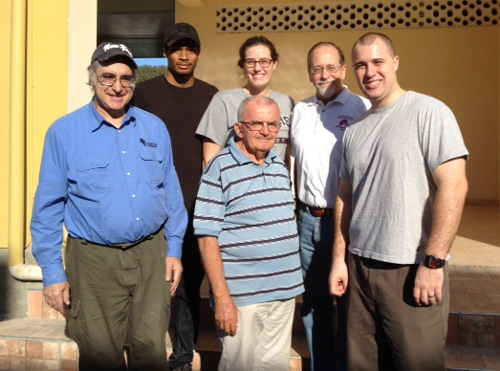 The group in Haiti