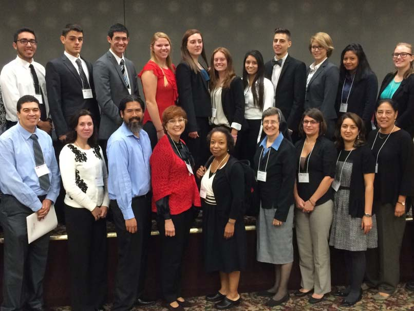 students and faculty at the annual symposium on lasallian research
