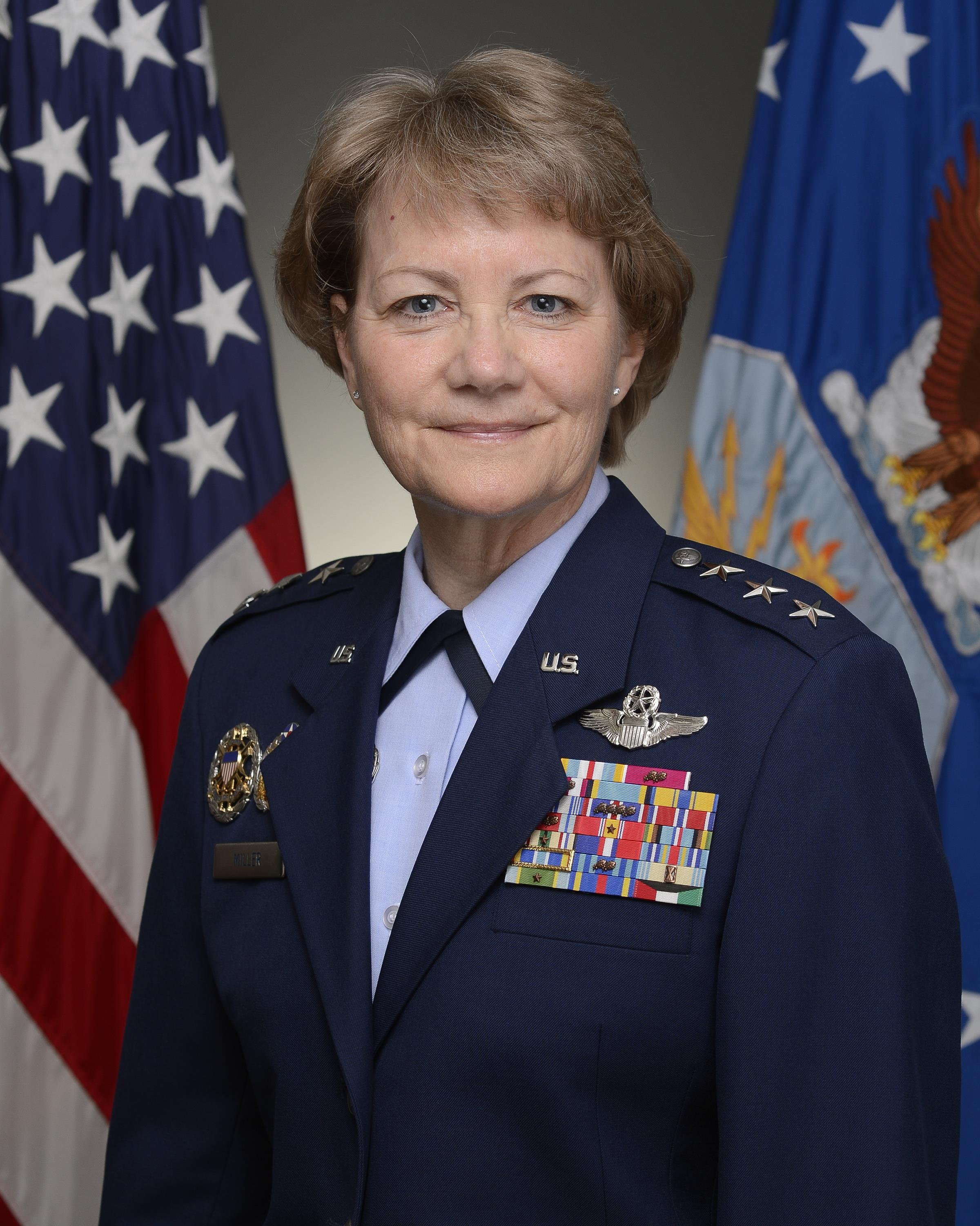 Portrait photograph of Lieutenant General Maryanne Miller in U.S. Air Force Uniform