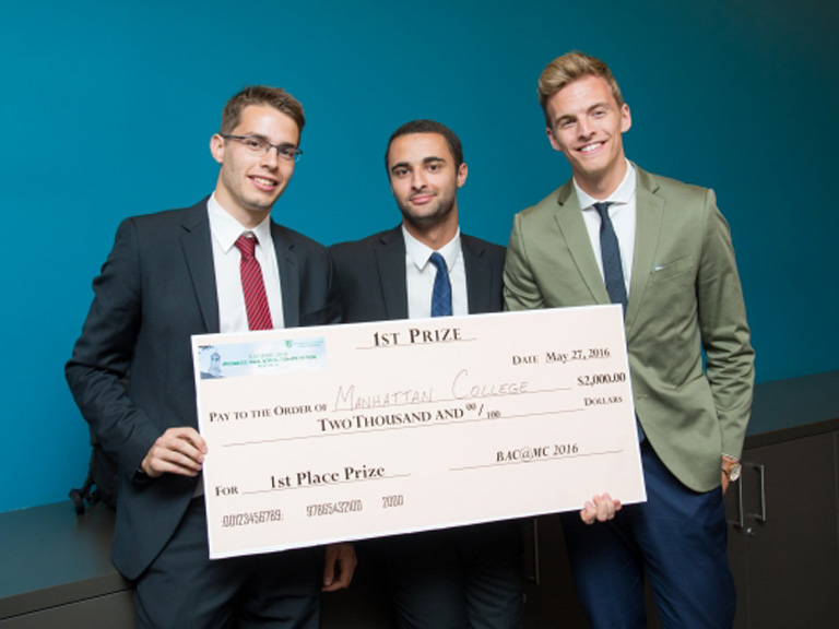 Manhattan College Business Analytics Conference winners