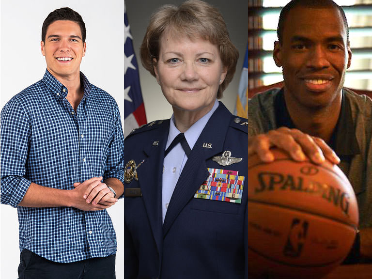 Will Reeve, Lt. Gen. Maryanne Miller, Jason Collins