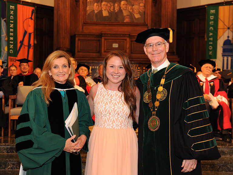 Kathleen White at 2014 Spring Honors Convocation