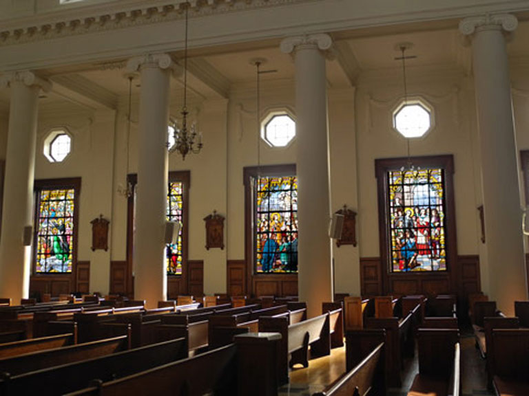 Chapel of De La Salle and His Brothers windows
