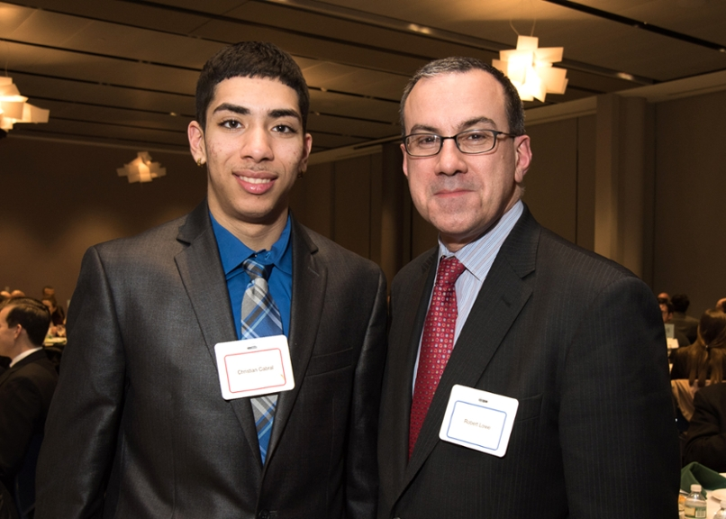 Robert Lowe '86 (left) with Christian Cabral '19.