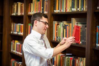 shelving library books