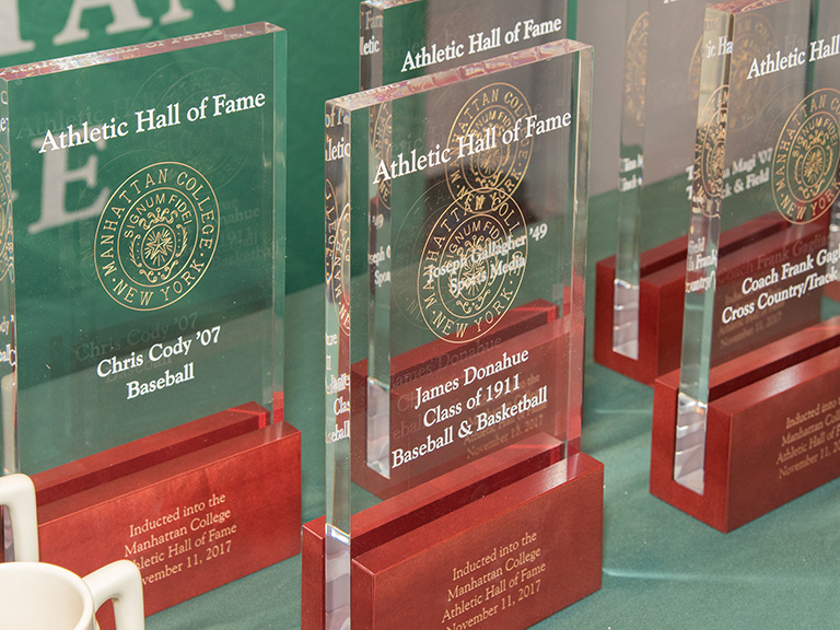 Athletic Hall of Fame plaques