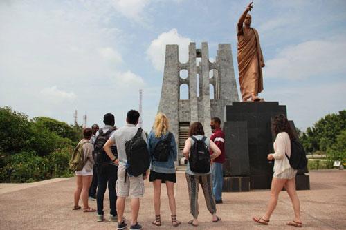 Students visit memorial in Ghana