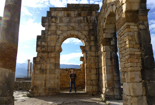 Roman ruins of Volubilis in Morocco