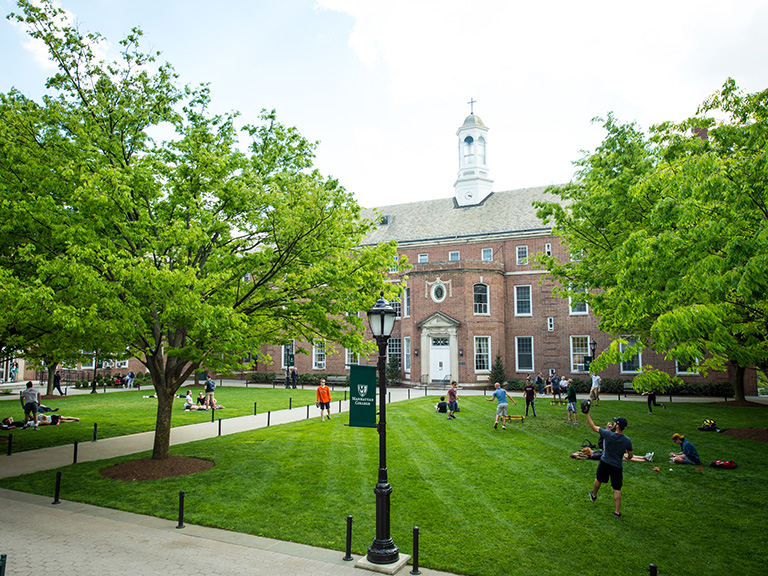 Quadrangle in spring time