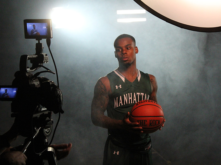 Sports media production at Manhattan College