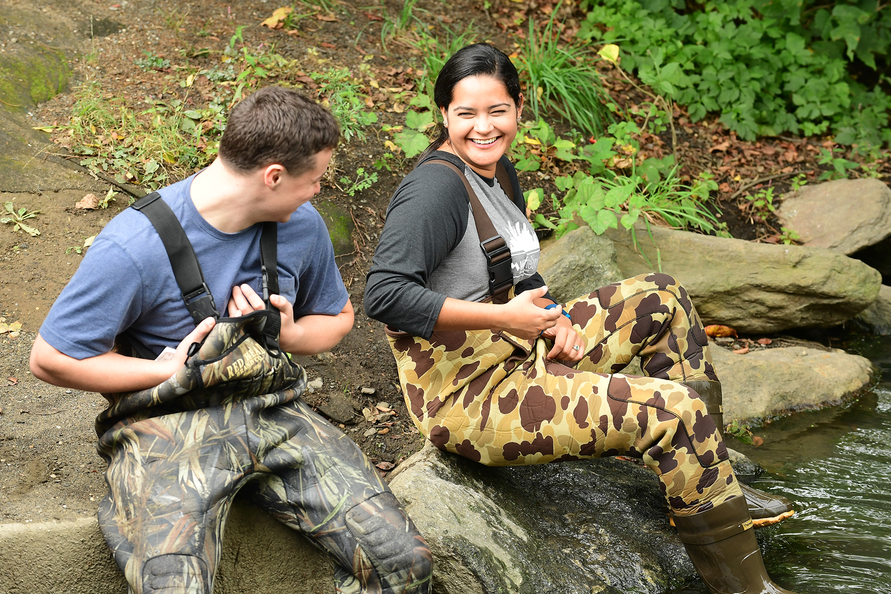 Stephanie Castro gets down and dirty at Van Cortlandt Park.
