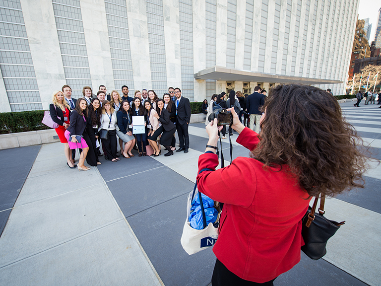 Photo of Students Visiting United Nations