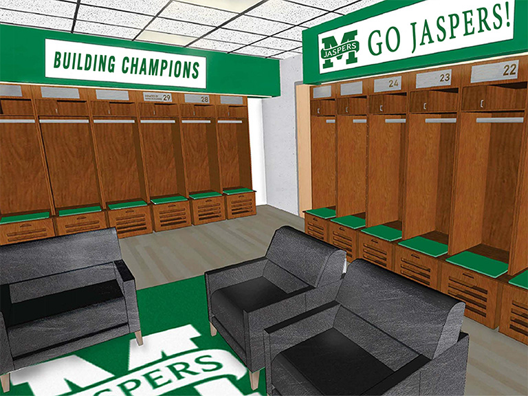 Gaelic Park Athletic Center interior rendering