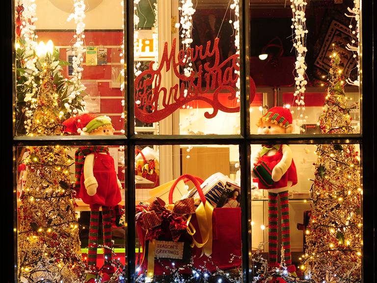 image of holiday window display