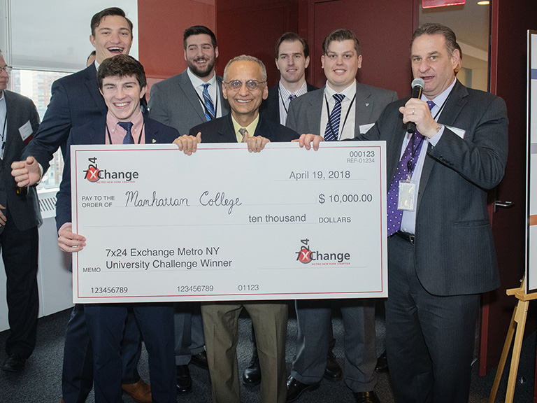 Mechanical engineers take home winning check.