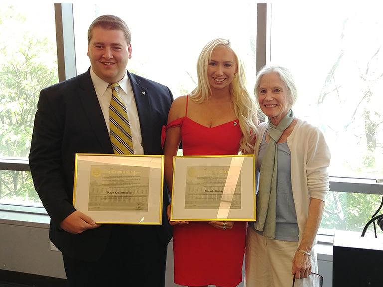 Photo of Ryan Quattromani, Micaela Bishop and Jean Rincon