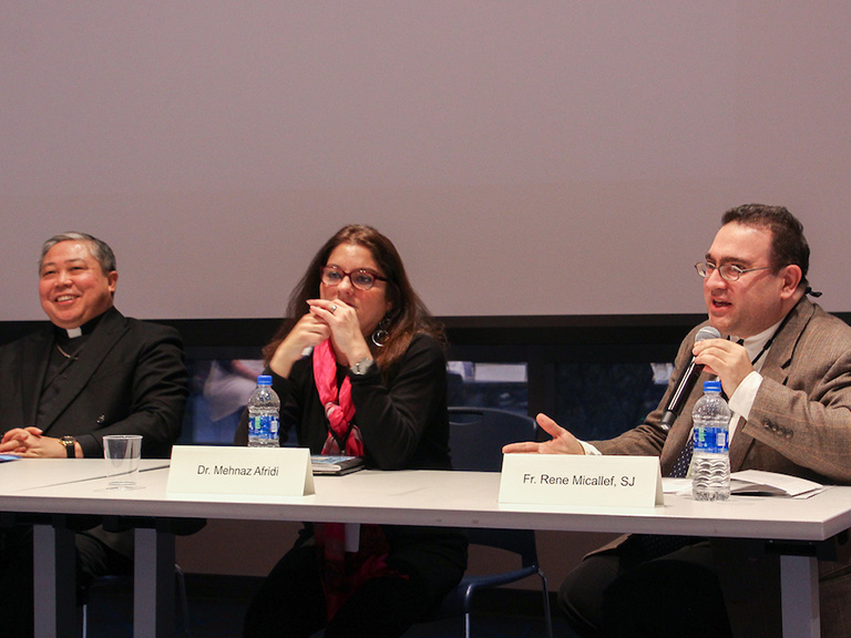 Panelists at Refugee Migrant Education conference