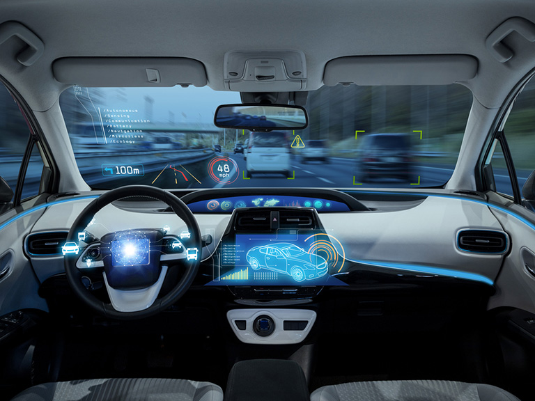 Inside of driverless car