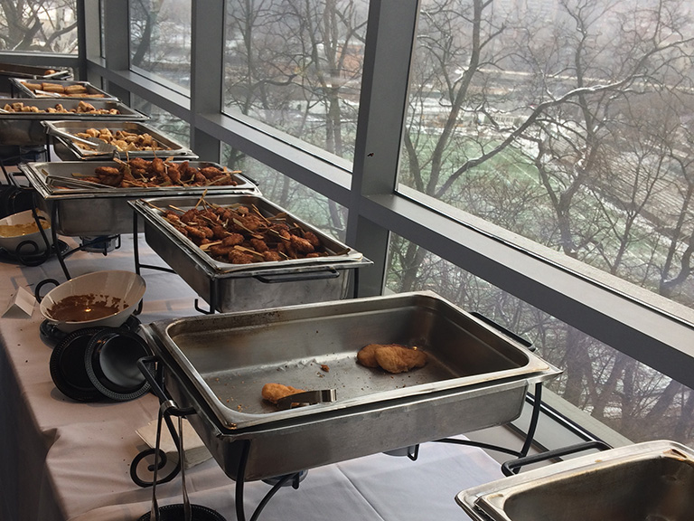 Food at January 2018 event