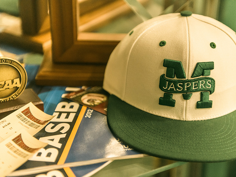 Manhattan College Jaspers hat among NCAA Tournament memorabilia