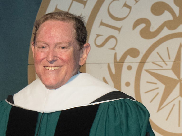 Thomas Moran at 2017 Undergraduate Commencement