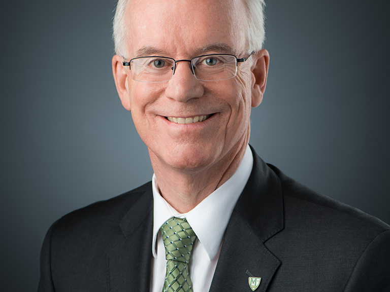 Portrait photo of President Brennan O'Donnell