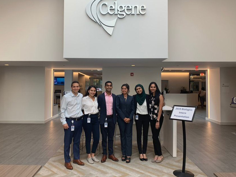 Farzana Begum and colleagues at Celgene