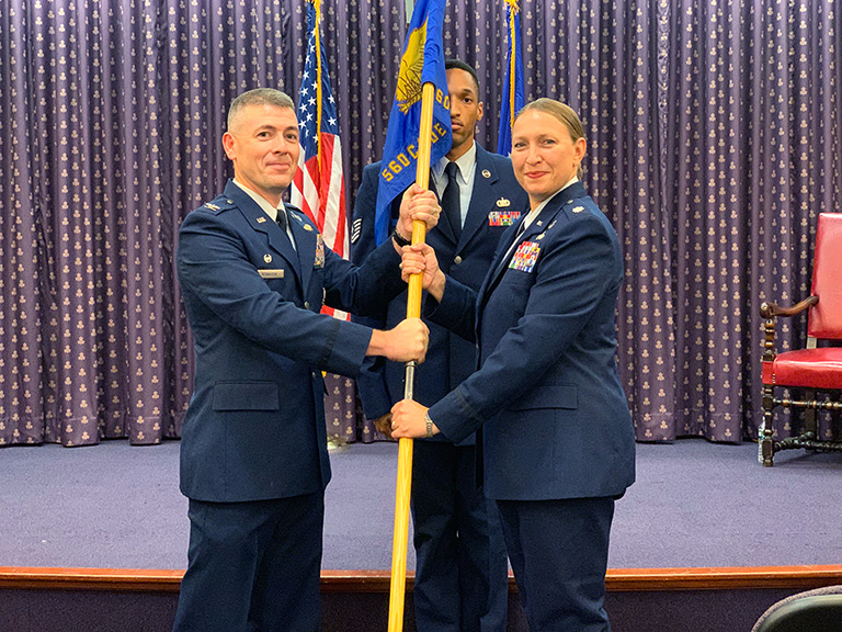 AFROTC change of command in Leo Hall